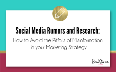 Social Media Rumors and Research – How to Avoid the Pitfalls of Misinformation in your Marketing Strategy