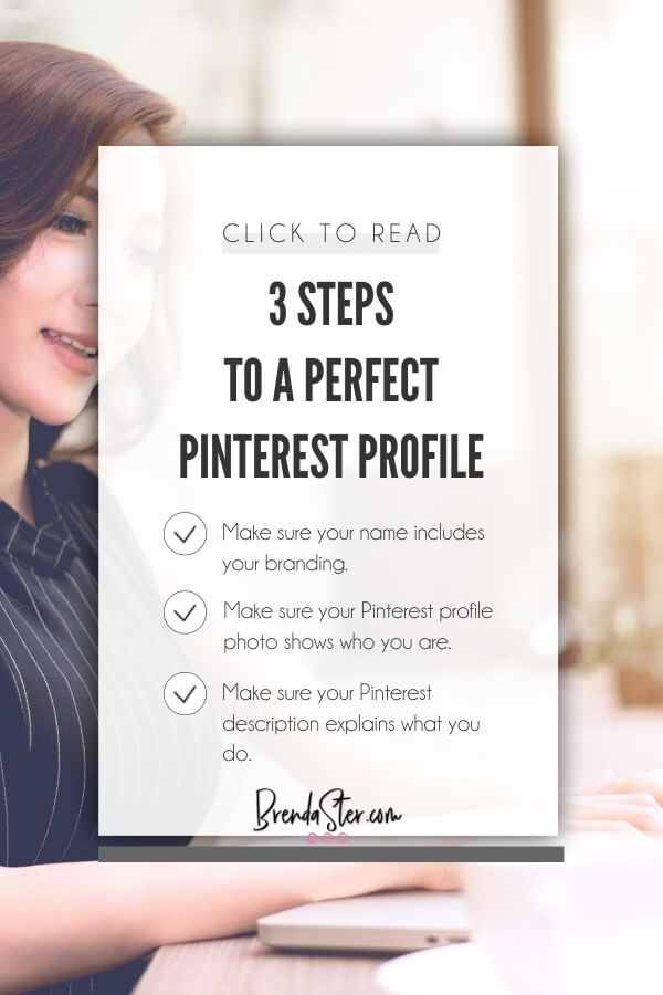 How to Write the Perfect Pinterest Profile blog title overlay