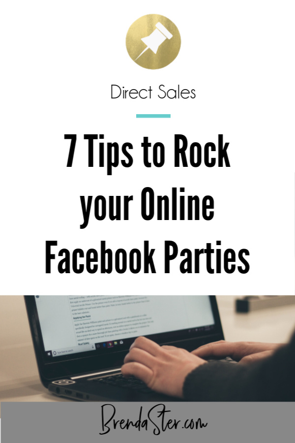 7 Tips to Rock your Online Facebook Parties blog title overlay