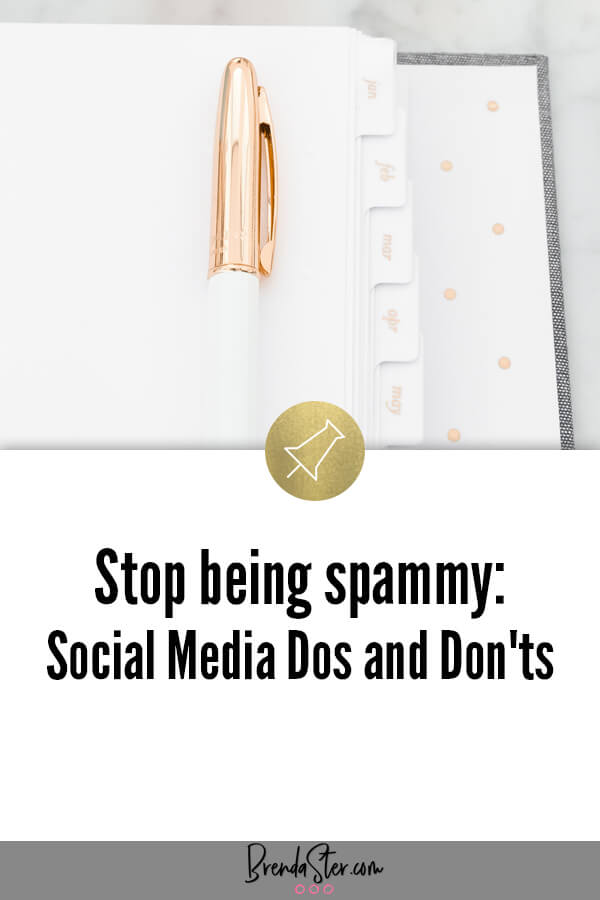 Stop being spammy: Social Media Dos and Don'ts blog title overlay
