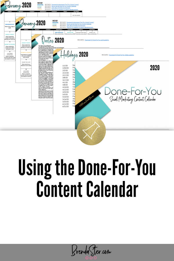 Using the Done-For-You Content Calendar blog title overlay
