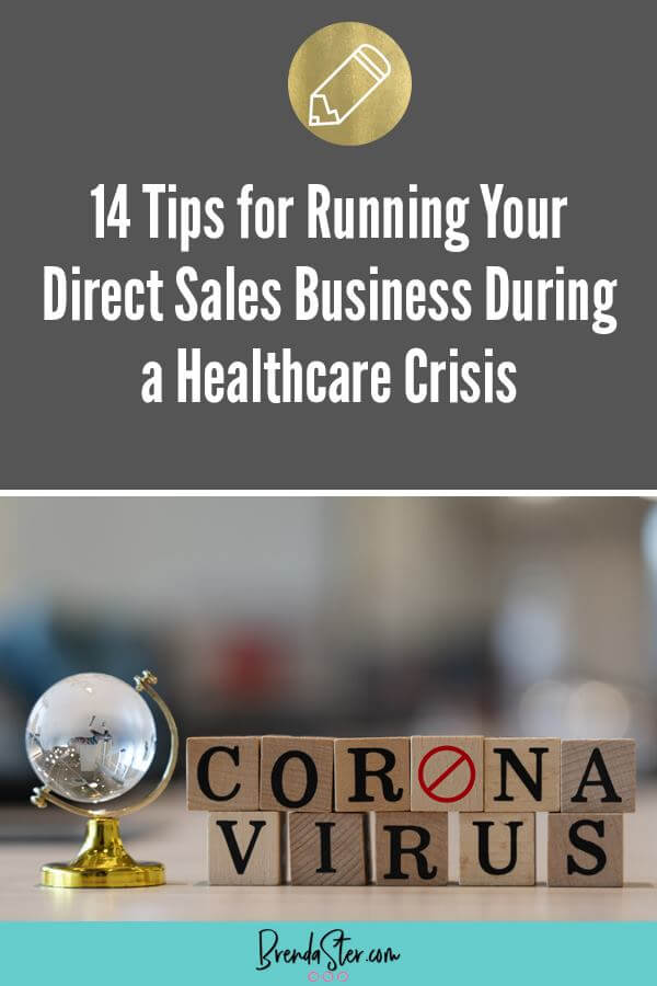 14 Tips for Running your Direct Sales Business During a Healthcare Crisis blog title overlay