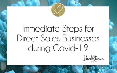Immediate Steps for Direct Sales Businesses during Covid-19