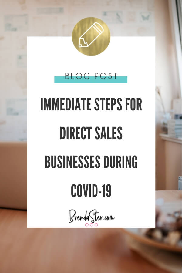 Immediate Steps for Direct Sales Businesses During Covid-19 blog title overlay