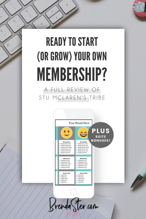 Ready to start or grow your own membership? A full review of Stu McLaren's TRIBE blog title overlay