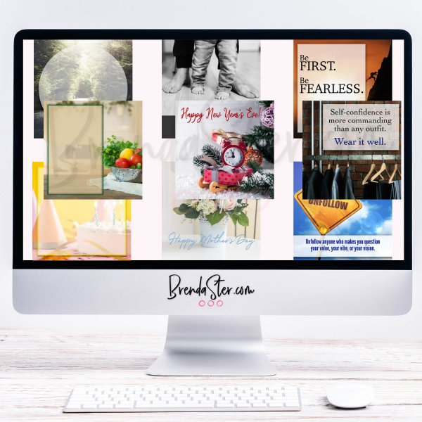 Done-For-You Social Media Graphics - Quotes/Holidays/Blank Templates blog post image