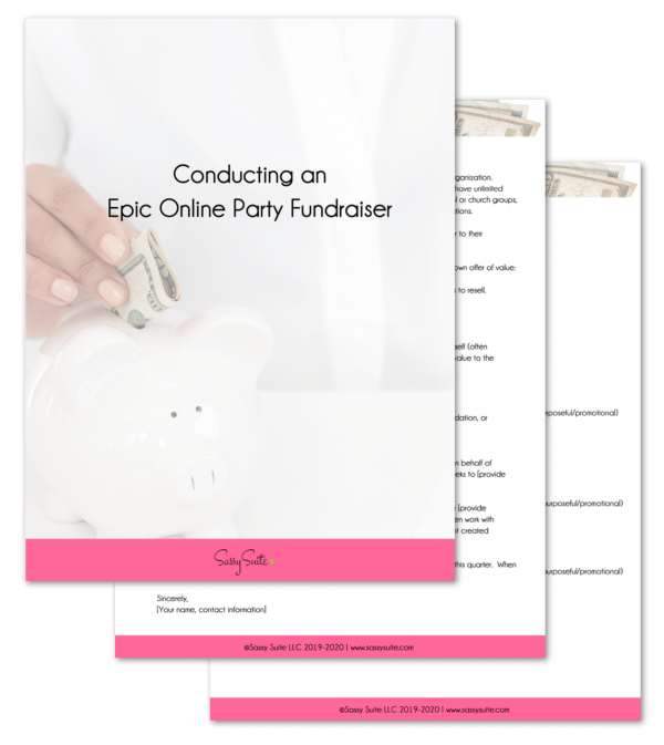 Online Epic Fundraiser Party E-Book Mockup