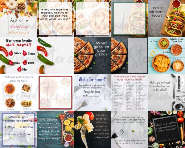 Done for you food themed social media graphic product image