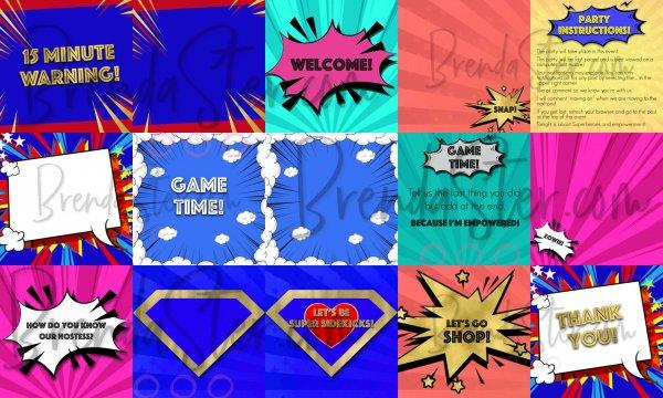 Superhero themed Facebook Party Graphics Mockup