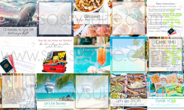 Travel themed Facebook Party Graphics Mockup