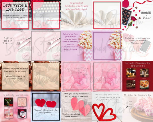 Done For You Valentine Social Media Graphics Product Image