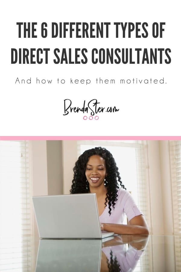 The 6 Different Types of Direct Sales Consultants and How to Keep them Motivated blog title overlay