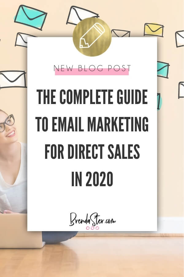 The Complete Guide to Email Marketing for Direct Sales in 2020 blog title overlay