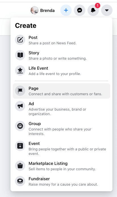 Build a Killer Facebook Page Create Menu Facebook Screenshot